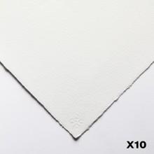 Saunders Waterford : 56x76cm :  300g : High White : 10 Feuilles : Grain Torchon