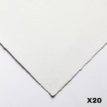 Saunders Waterford : 56x76cm :  300g : High White : 20 Feuilles : Grain Torchon