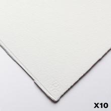 Saunders Waterford : 56x76cm :  425g : High White : 10 Feuilles : Grain Torchon