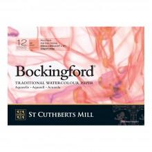 Bockingford : Bloc Encollé : 25x35cm : 300gsm : 12 Feuilles : Grain Satiné