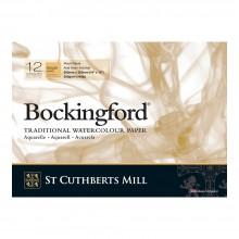 Bockingford : Bloc Encollé : 25x35cm : 300gsm : 12 Feuilles : Grain Torchon