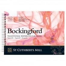 Bockingford :Bloc Papier Spiral : 25x35cm : 300gsm : 12 Feuilles : Grain Satiné