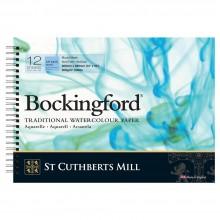 Bockingford :Bloc Papier Spiral : 25x35cm : 300gsm : 12 Feuilles : Grain Fin