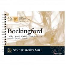 Bockingford :Bloc Papier Spiral : 25x35cm : 300gsm : 12 Feuilles : Grain Torchon