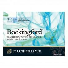 Bockingford : Bloc Encollé : 5x14in : 300gsm : 12 Feuilles : Grain Fin