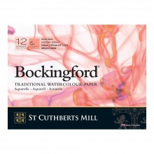 Bockingford : Bloc Encollé : 30x40cm : 300gsm : 12 Feuilles : Grain Satiné