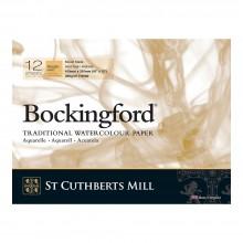Bockingford : Bloc Encollé : 30x40cm : 300gsm : 12 Feuilles : Grain Torchon