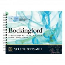 Bockingford :Bloc Papier Spiral : 30x40cm : 300gsm : 12 Feuilles : Grain Fin