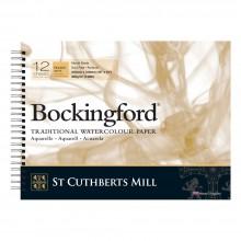 Bockingford :Bloc Papier Spiral : 30x40cm : 300gsm : 12 Feuilles : Grain Torchon