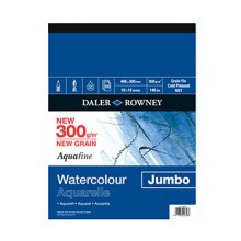 Daler Rowney : Aquafine Papier Aquarelle : Bloc Jumbo : 30x40cm : 300g : Grain Fin
