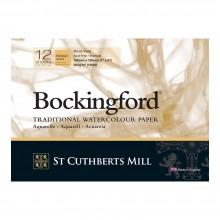 Bockingford : Bloc Encollé : 12x18cm : 300gsm : 12 Feuilles : Grain Torchon