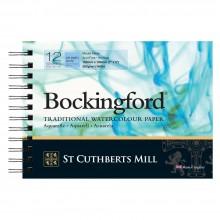 Bockingford :Bloc Papier Spiral : 12x18cm : 300gsm : 12 Feuilles : Grain Fin