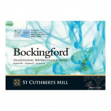 Bockingford : Bloc Encollé : 7x10in : 300gsm : 12 Feuilles : Grain Fin surface