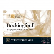 Bockingford : Bloc Encollé : 7x10in : 300gsm : 12 Feuilles : Grain Torchon