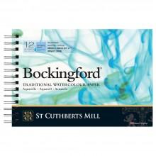 Bockingford :Bloc Papier Spiral : 7x10in : 300gsm : 12 Feuilles : Grain Fin