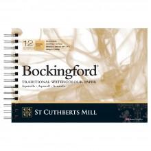 Bockingford :Bloc Papier Spiral : 7x10in : 300gsm : 12 Feuilles : Grain Torchon