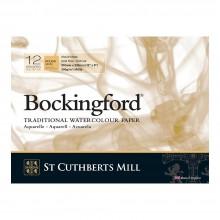 Bockingford : Bloc Encollé : 20x30cm : 300gsm : 12 Feuilles : Grain Torchon