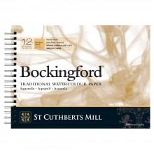 Bockingford :Bloc Papier Spiral : 20x30cm : 300gsm : 12 Feuilles : Grain Torchon