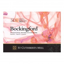Bockingford : Bloc Encollé : 8.2x11.8in : A4 : 300gsm : 12 Feuilles : Grain Satiné
