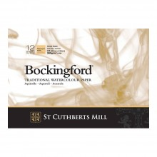 Bockingford : Bloc Encollé : 8.2x11.8in : A4 : 300gsm : 12 Feuilles : Grain Torchon