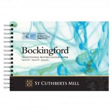 Bockingford : Papier Aquarelle : Spiral Pad : 300gsm : A4 : Grain Fin