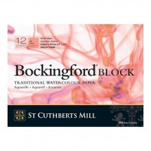 Bockingford : Bloc : 30x40cm : 300g : 12 Feuilles : Grain Satiné