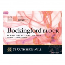 Bockingford : Bloc : 20x30cm : 300g : 12 Feuilles : Grain Satiné