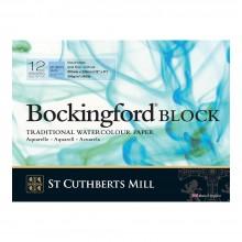 Bockingford : Bloc : 20x30cm : 300g : 12 Feuilles : Grain Fin