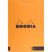 Rhodia :Basiques : Bloc avec Lignes : Couverture Orange : 80 Pages : 8.5x12cm