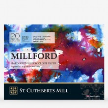 St Cuthberts Mill : Millford : Watercolour Paper Block : 300gsm : 12x16in : 20 Sheets : Cold Pressed