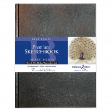 Stillman & Birn : Beta : Cahier de Croquis 8.25 x 11.75 in : (A4) Cartonné : 270gsm  : Blanc  : Gra in : F in :/Torchon