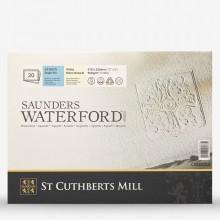 Saunders Waterford : Bloc : 300g : 20x30cm : 20 Feuilles : Grain Fin