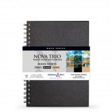 Stillman & Birn : Nova Trio : Cahier de Croquis à Sipral Techniques Mixtes: 150gsm : 7x10in (17.8x25.4cm)
