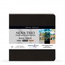 Stillman & Birn : Nova Trio : Cahier de Croquis à Sipral Techniques Mixtes: 150gsm : 7.5x7.5in (19x19cm)