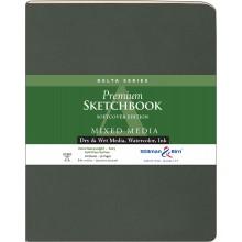 Stillman & Birn : Delta : Couverture Souple: Cahier de Croquis : 270gsm : Grain Torchon : 21x25cm (20x25cm) : Portrait