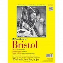 Strathmore :300 : Série : Papier Bristol : Bloc: 20x30cm : 20 Feuilles : Fini Vélin