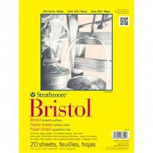 Strathmore :300 : Série : Papier Bristol : Bloc: 20x30cm : 20 Feuilles : Surface Lisse