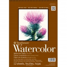 Strathmore : Aquarelle 400 9 X 12 pouces presse froide spirale Top 12 feuille Pad