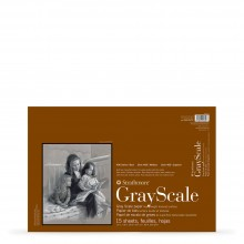 Strathmore : 400 Series : Grey Scale Scale Pad : 216gsm : 15 Sheets : 12x18in