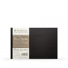Strathmore : 400 Series : Hardbound Toned Tan Mixed Media Sketchbook : 300gsm : 48 Pages : 8.5x5.5in