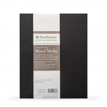 Strathmore : 400 Series : Softcover Toned Grey Mixed Media Sketchbook : 48 Pages : 7.75x9.75in