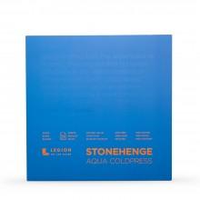 Stonehenge : Aqua : Papier Aquarelle : Bloc : 140lb (300g) : 10x10in : Grain Fin