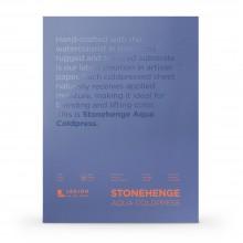 Stonehenge : Aqua : Papier Aquarelle : Bloc : 140lb (300g) : 30x40cm : Grain Fin