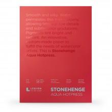 Stonehenge : Aqua : Papier Aquarelle : Bloc : 140lb (300g) : 45x60cm : Grain Satiné