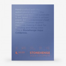 Stonehenge : Aqua : Papier Aquarelle : Bloc : 140lb (300g) : 45x60cm : Grain Fin