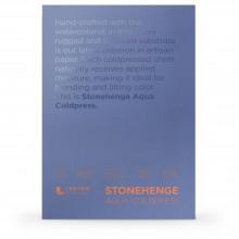 Stonehenge : Aqua : Papier Aquarelle : Bloc : 140lb (300g) : 7x10in : Grain Fin