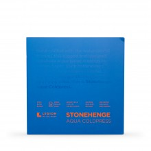 Stonehenge : Aqua : Papier Aquarelle : Bloc : 140lb (300g) : 7x7in : Grain Fin