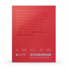 Stonehenge : Aqua : Papier Aquarelle : Bloc : 140lb (300g) : 20x30cm : Grain Satiné