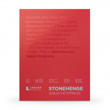Stonehenge : Aqua Watercolour Paper Block : 140lb (300gsm) : 9x12in : Hot Pressed