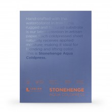 Stonehenge : Aqua : Papier Aquarelle : Bloc : 140lb (300g) : 20x30cm : Grain Fin